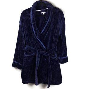 Kensie Star Glitter Plush Bathrobe Robe Size L XL